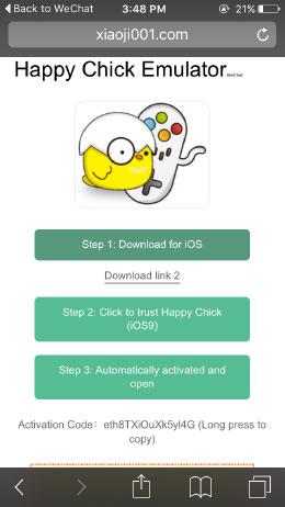 Jailbreak iPhone-Installation Guidance-Happy Chick Game Emulator